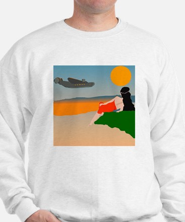 South Pacific Air Travel Poster Jumper