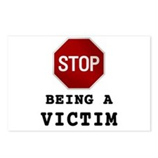 Stop Being Victim Postcards (Package of 8)