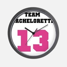 Team Bachelorette Pink 13 Wall Clock
