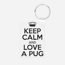 Keep Calm Black Keychains