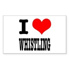 I Heart (Love) Whistling Rectangle Decal