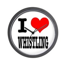 I Heart (Love) Whistling Wall Clock