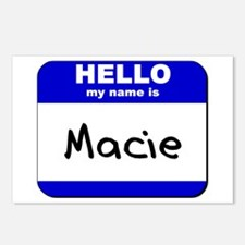 hello my name is macie  Postcards (Package of 8)