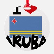 I HEART ARUBA FLAG Ornament