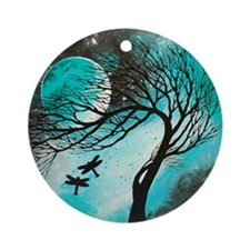Dragonfly Bliss Round Ornament