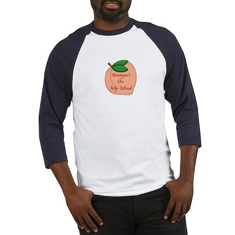 Georgia Minded Peach Baseball Jersey
