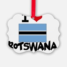 I HEART BOTSWANA FLAG Ornament