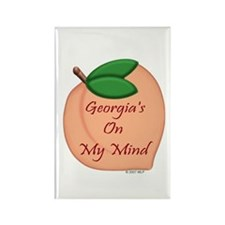 Georgia Minded Peach Rectangle Magnet
