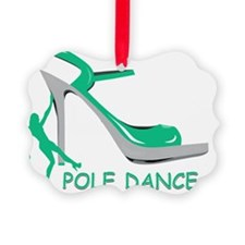 Pole Dance Girl Green Ornament