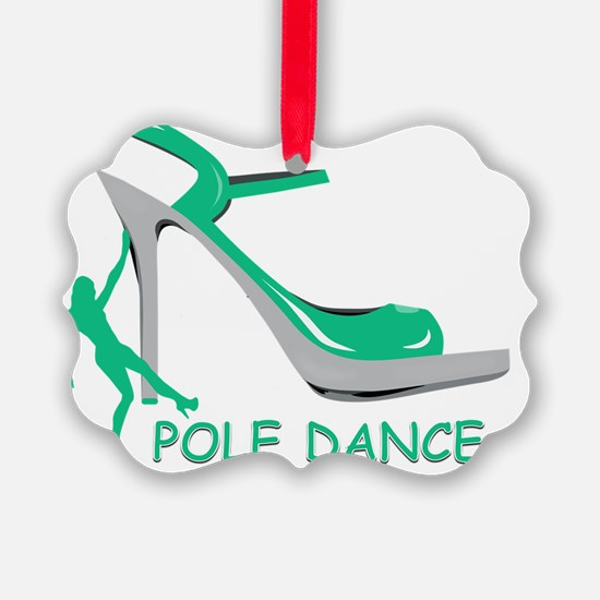 Pole Dance Girl Green Ornament
