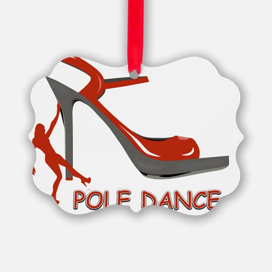Pole Dance Girl Red Ornament