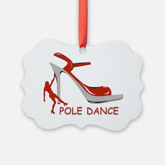 Pole Dance Girl Orange Ornament