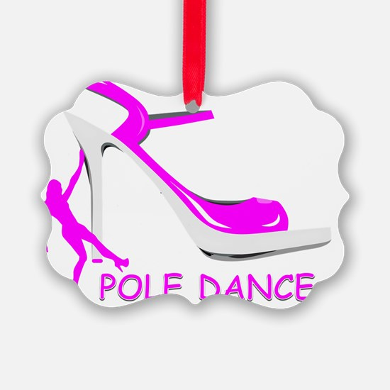 Pole Dance Girl Hot Pink Ornament