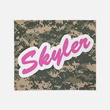 Camo Custom Skyler Throw Blanket