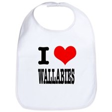 I Heart (Love) Wallabies Bib