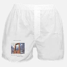 pro second amendment, pro death penal Boxer Shorts
