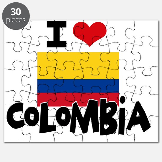 I HEART COLOMBIA FLAG Puzzle