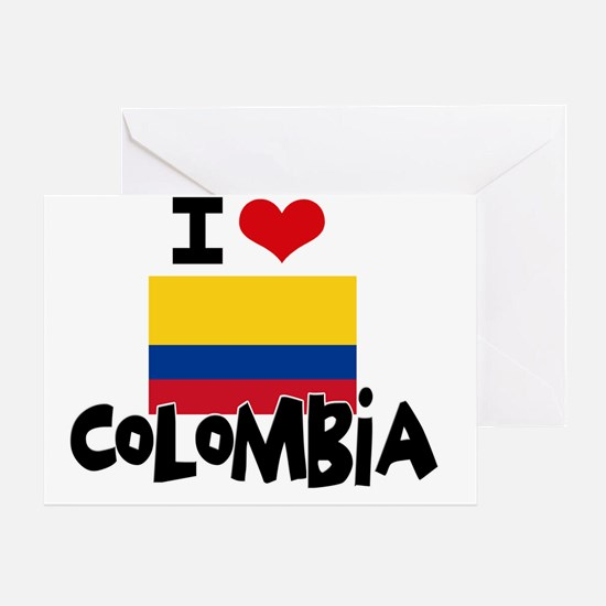 I HEART COLOMBIA FLAG Greeting Card