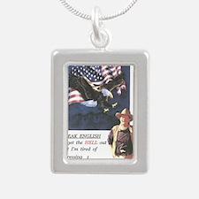 John Wayne ,patriotic, s Silver Portrait Necklace