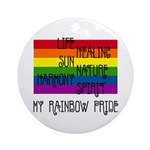 My Rainbow Pride Ornament (Round)
