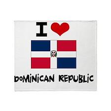 I HEART DOMINICAN REPUBLIC FLAG Throw Blanket