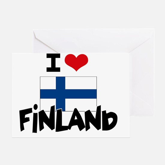 I HEART FINLAND FLAG Greeting Card