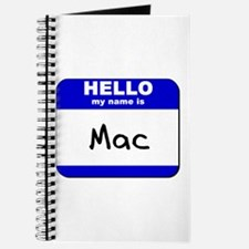 hello my name is mac Journal