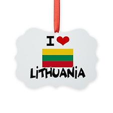 I HEART LITHUANIA FLAG Ornament