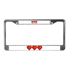 wild at heart License Plate Frame