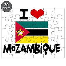 I HEART MOZAMBIQUE FLAG Puzzle