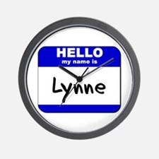 hello my name is lynne  Wall Clock