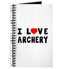 I Love Archery Journal