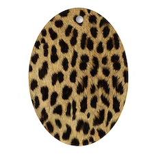 Leopard Print Ornament (Oval)
