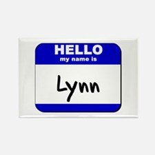 hello my name is lynn Rectangle Magnet