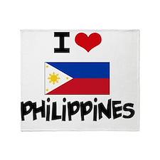 I HEART PHILIPPINES FLAG Throw Blanket
