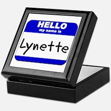 hello my name is lynette Keepsake Box