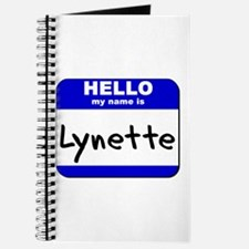 hello my name is lynette Journal
