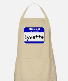 hello my name is lynette  BBQ Apron