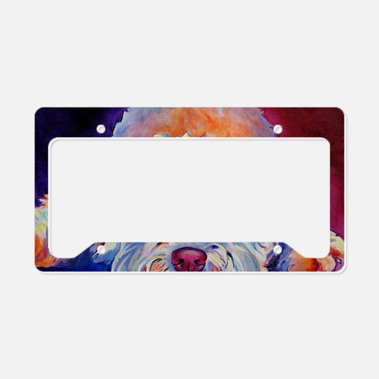 Wheaten 4 License Plate Holder