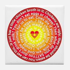 The Color Of Vegan Tile Coaster