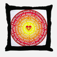 The Color Of Vegan Throw Pillow