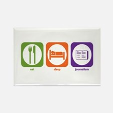 Eat Sleep Journalism Rectangle Magnet