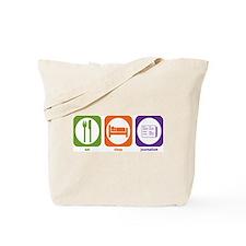 Eat Sleep Journalism Tote Bag