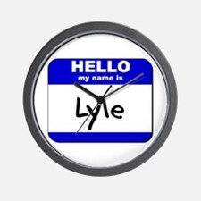 hello my name is lyle  Wall Clock
