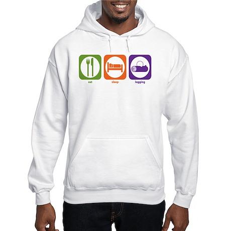 Eat Sleep Logging Hooded Sweatshirt