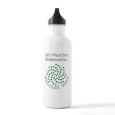 Christmas Peas 2 Sports Water Bottle