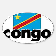 I HEART CONGO FLAG Decal