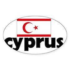 I HEART CYPRUS FLAG Decal