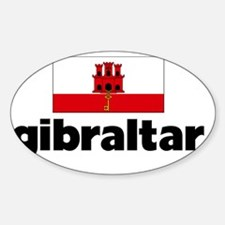 I HEART GIBRALTAR FLAG Sticker (Oval)