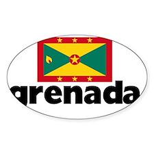I HEART GRENADA FLAG Decal